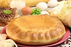 Пирог с говядиной и капустой - Фото