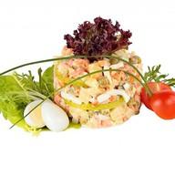 Оливье с лососем Фото