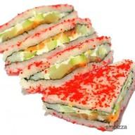 С лососем роллы сендвич Фото