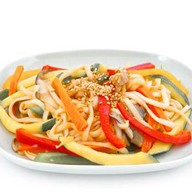 Жареная лапша с овощами Фото