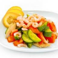 Креветки с овощами Фото
