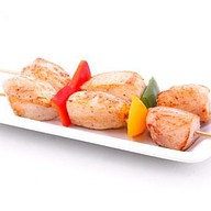 Шашлычки из курицы с овощами Фото