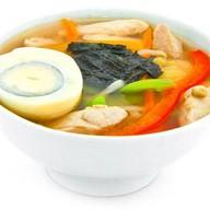 Суп с китайской лапшой Фото