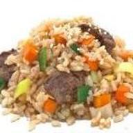 Рис с говядиной Фото