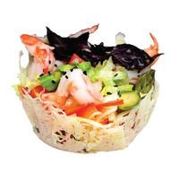 Легкий салат со спаржей Фото