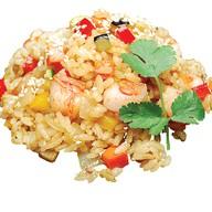 Жареный рис с креветками Фото