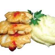 Куриные оладьи с соусом BBQ Фото