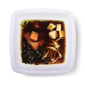 """Мисо суп с лососем и лапшой удон - Фото"