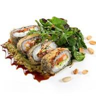 Crunch-ролл с лососем Фото