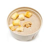 Суп-пюре из шампиньонов с гренками Фото
