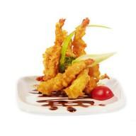 Креветки темпура с соусом тар-тар Фото