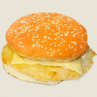 Бургер с куриной котлетой Фото