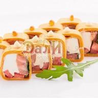 Тортилья лосось-руккола с сыром Фото
