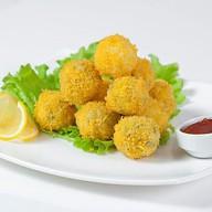 Картофельные крокеты с копченым лососем Фото