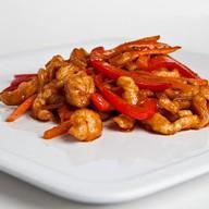 Курица с овощами в соусе терияки Фото