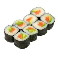 Ролл с лососем и авокадо Фото