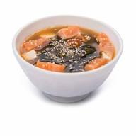 Мисо суп с яйцом и луком Фото