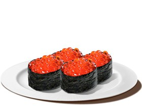 Гункан красный лосось - Фото