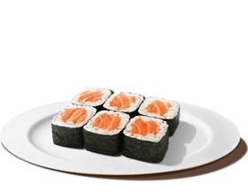 Ролл с лососем - Фото