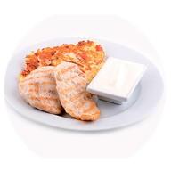 Фирменное куриное филе с драниками Фото