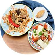 Восточный бизнеч-ланч из 2-х блюд Фото
