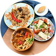 Восточный бизнес-ланч из 3-х блюд Фото