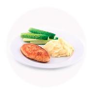 Котлеты по-киевски с картофельным пюре Фото
