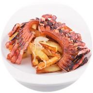 Картофель жареный с грудинкой Фото