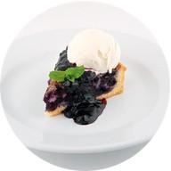 Черничный пирог с мороженым Фото