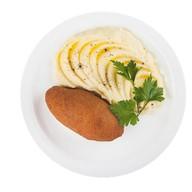 Зраза куриная с картофельным пюре Фото