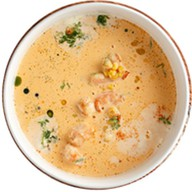 Кремовый суп с креветками Фото