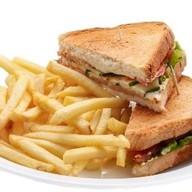 Сэндвичи + картофель фри Фото