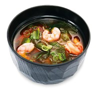 Мисо суп с лапшой удон и креветкой Фото