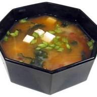 Мисо-суп с лососем Фото