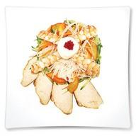 Салат с курицей и креветками Фото