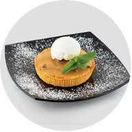 Мини-пирог с грецким орехом и карамелью Фото