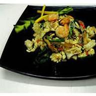 Лапша с морепродуктами Фото