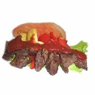 Намуль с говядиной и томатным соусом Фото
