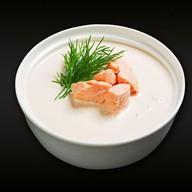 Сливочный с лососем суп Фото
