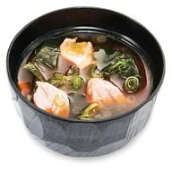 Мисо-суп с лапшой Удон и лососем Фото