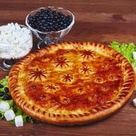 Пирог с черникой и творогом Фото