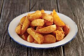 Картофельные дольки с кетчупом - Фото