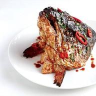 Голова лосося-гриль Фото
