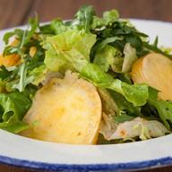 Микс салатов с жареной скаморцой Фото