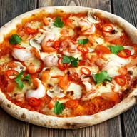 Пицца Том ям с креветками Фото