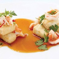 Паназиатский с сыром тофу и креветками Фото