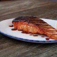 Стейк из лосося терияки Фото