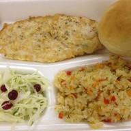 Стейк из курицы + рис с овощами Фото