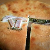 Пирог с картофелем, грибами и зеленью Фото