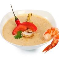 Сливочный суп том кха Фото